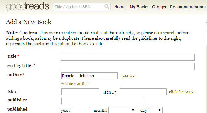 add a current book to goodreads2