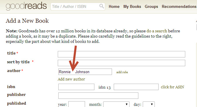 add a current book to goodreads2a