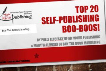 self publishing boo boos